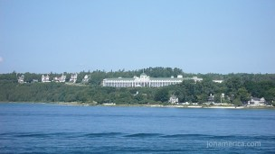 This is the Grand Hotel where we stayed on Mackinac Island.