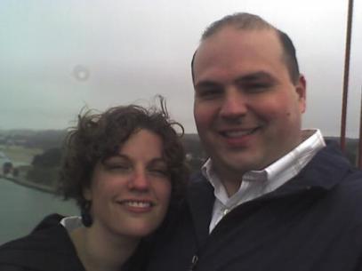 Leah and Jonathan on the bridge