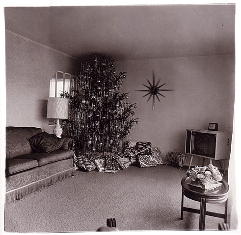 Christmas Tree in a living room, Levitown, L.I. Source: masters-of-photography.com