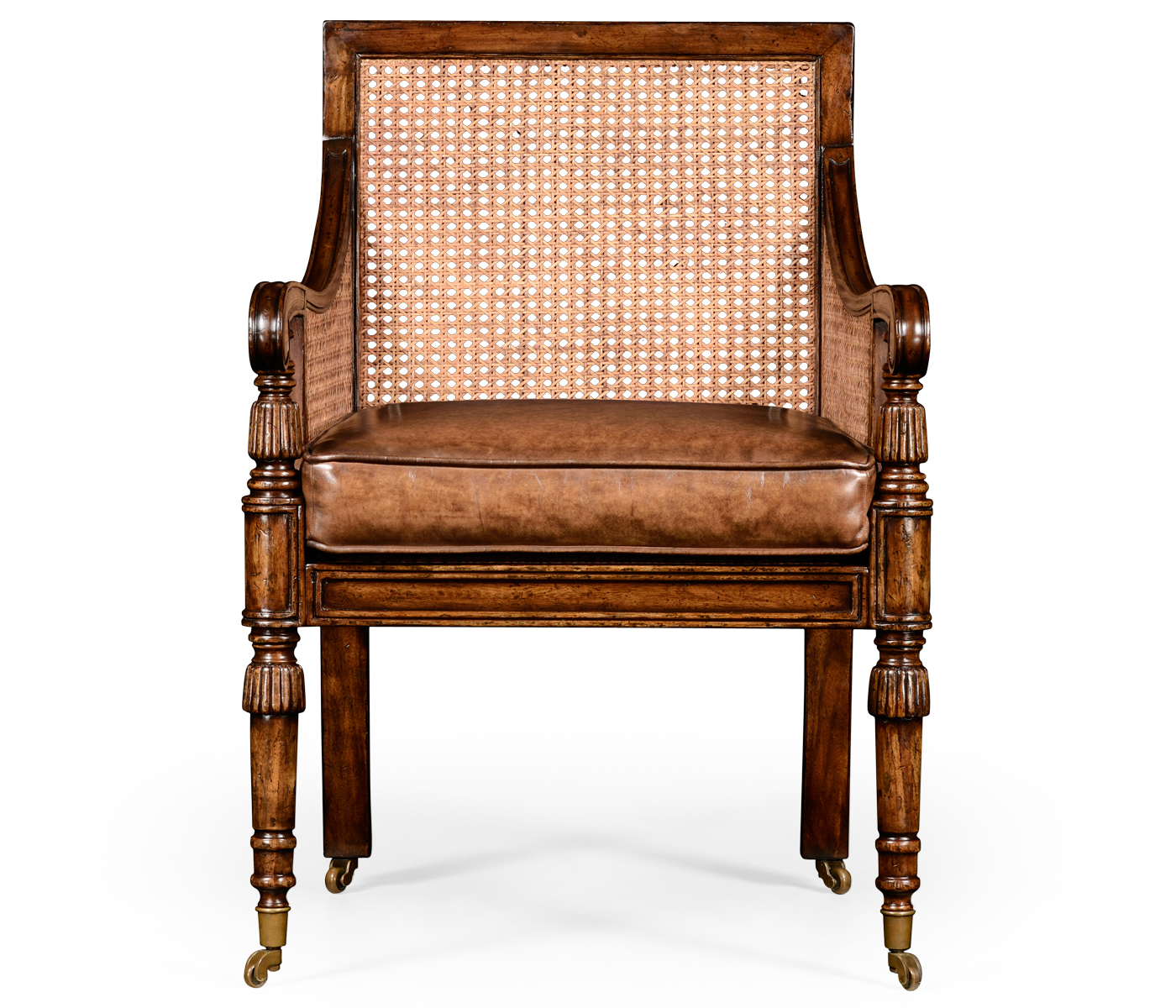 bergere chairs turquoise metal chair caned walnut in medium antique chestnut