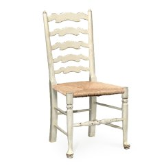 White Ladder Back Chairs Ergonomic For Home Painted Side Chair