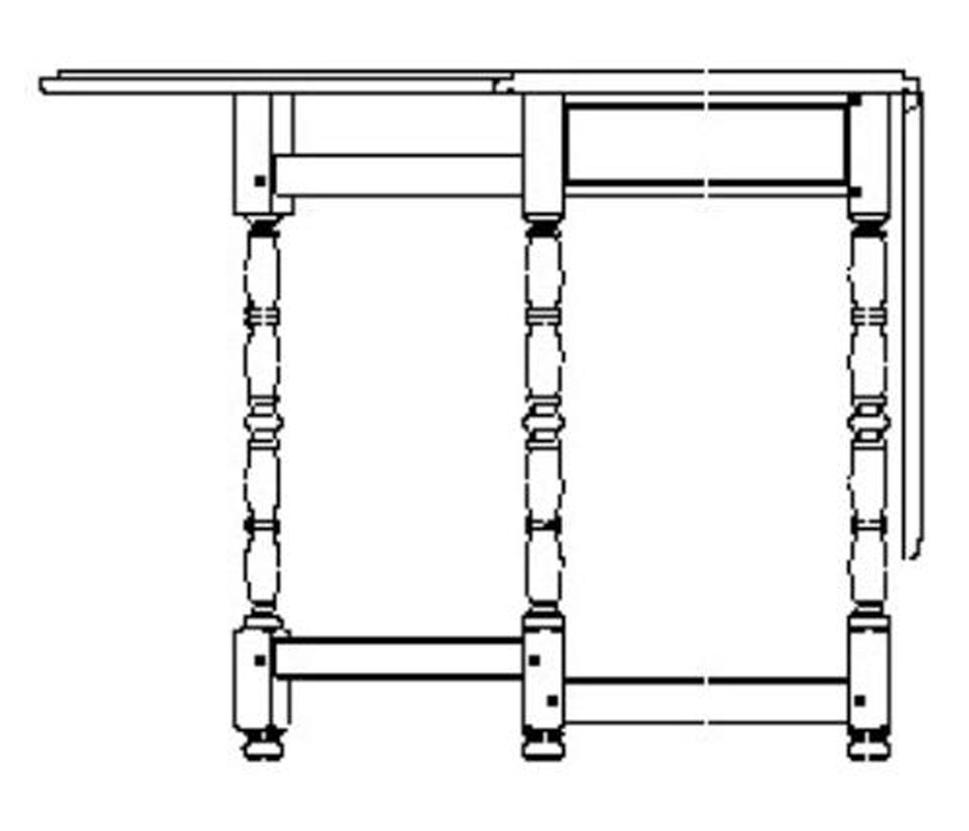 Oval Gate Leg Dining Table