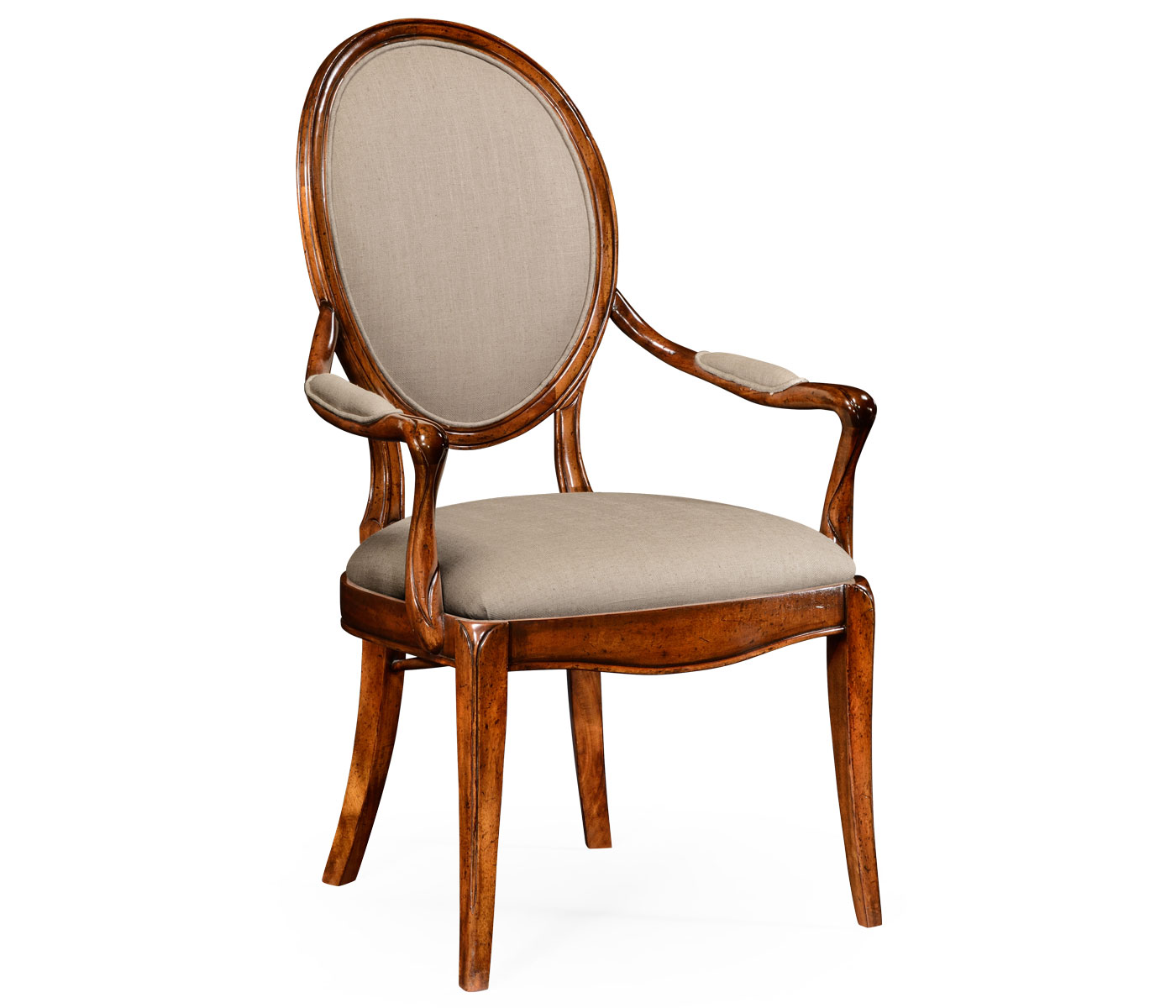 Spoon Back Upholstered Dining Chair Arm
