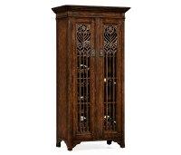 Tall Gothic Tudor Oak Wine Cabinet