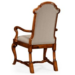 Queen Anne Style Chairs Folding Chair Fishing Pole Holder Dining Or Fireside Arm