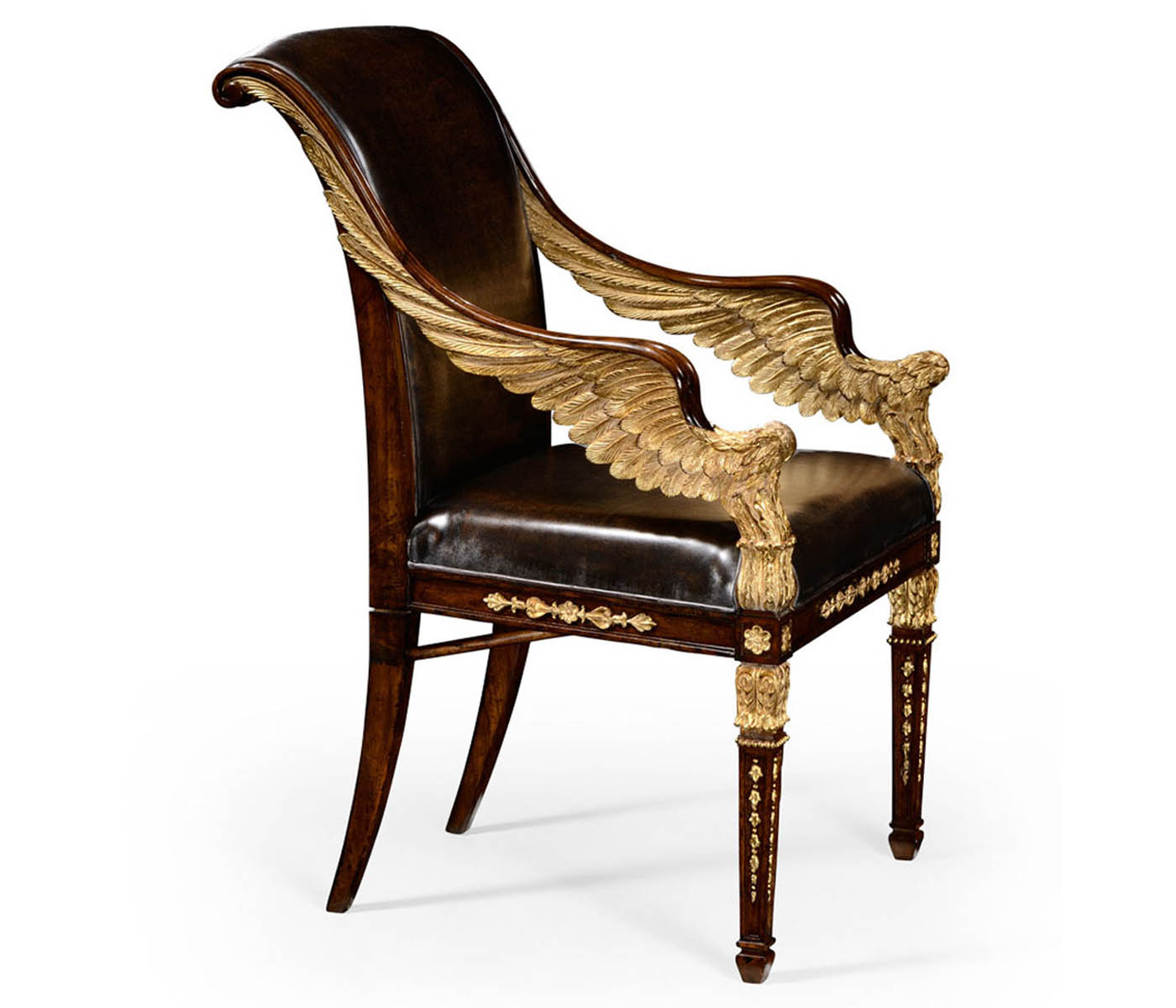 high end chair hanging granville island empire angel armchair upholstered in antique caviar black