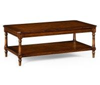 Victorian Style Walnut Coffee Table