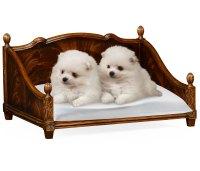 Rectangular Four Poster Mahogany Dog Bed