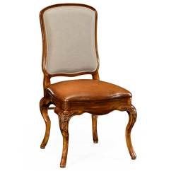Fabric Side Chairs Wedding Banquet Chair Covers Walnut With Dv Medium Antique Chestnut Leather