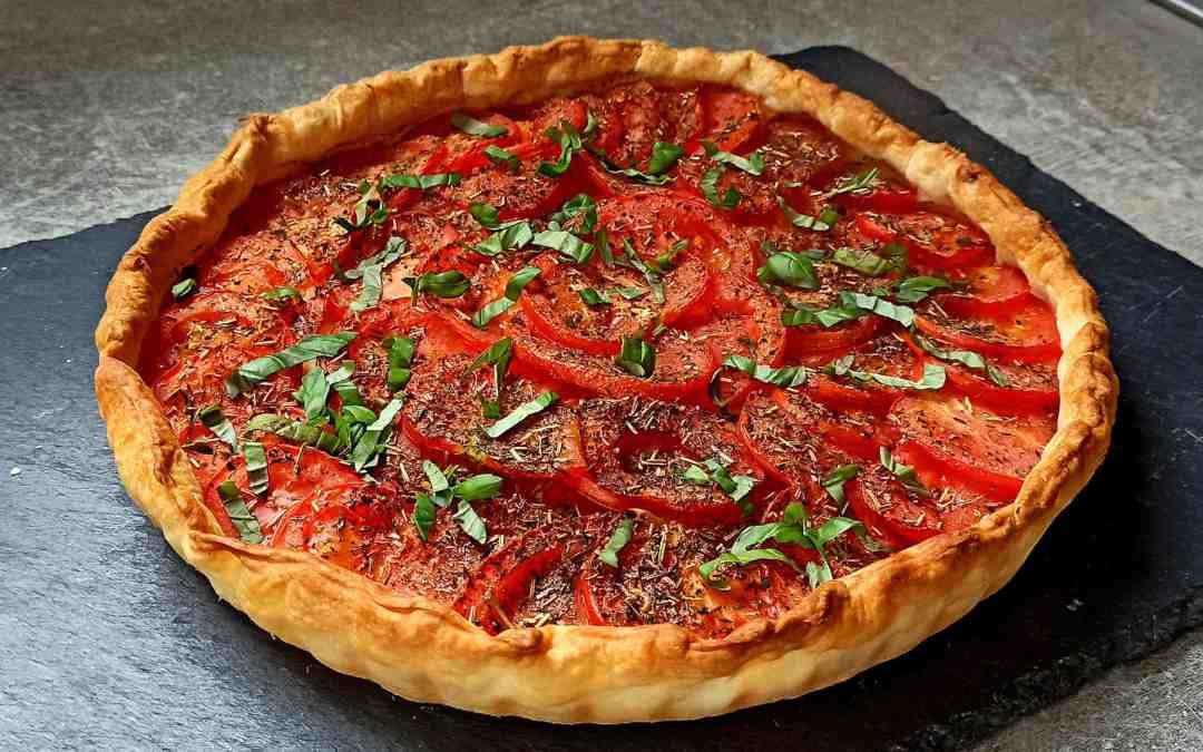 Tarte provençale aux tomates et aux oignons