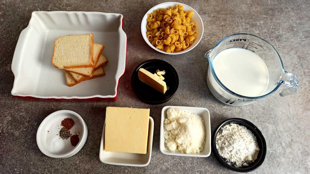 Les ingrédients des macaroni and cheese de Martha Stewart