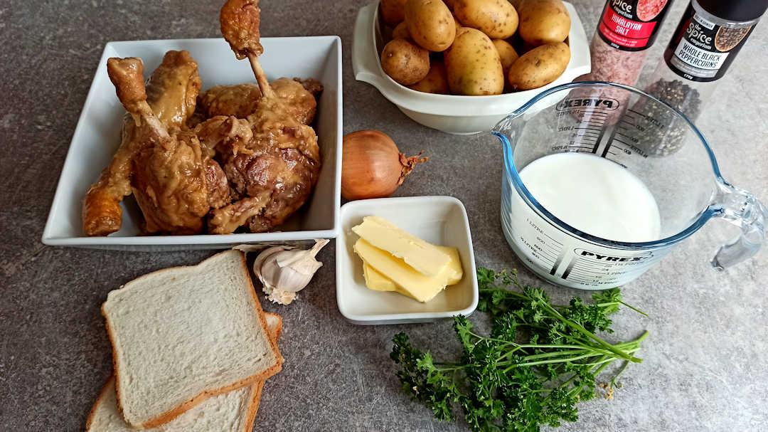 Les ingrédients du parmentier de canard de Michel Roux JrLes ingrédients du parmentier de canard de Michel Roux Jr