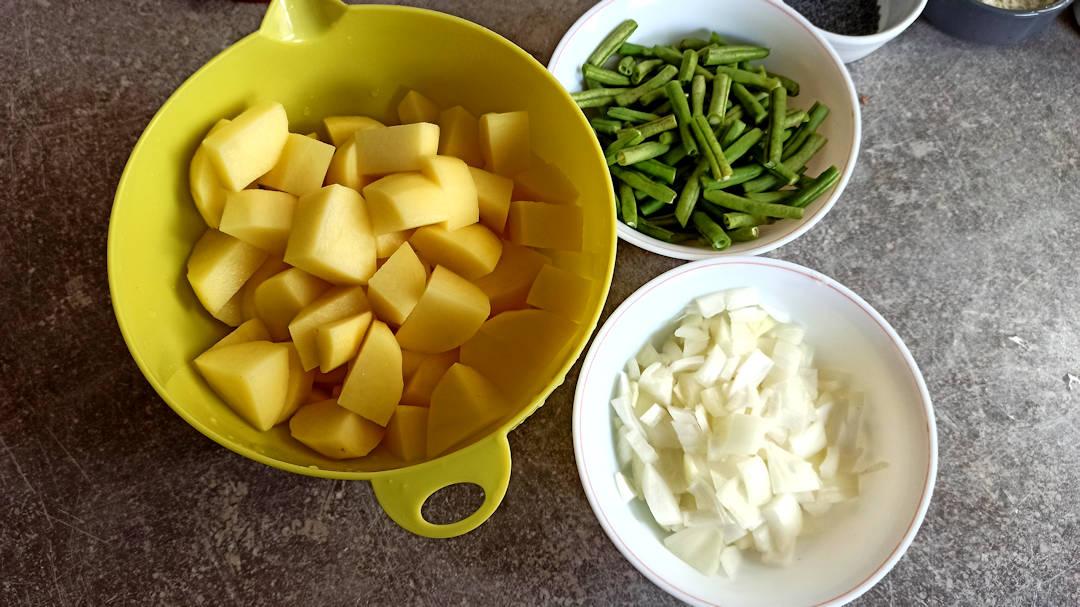 Couper les pommes de terre
