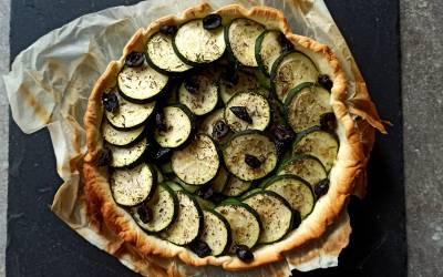 Tarte camembert et courgette
