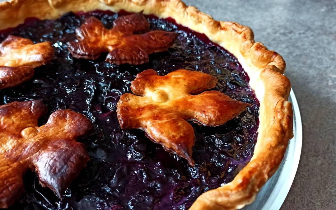 Concord grape pie revisitée : une tarte traditionnelle américaine.