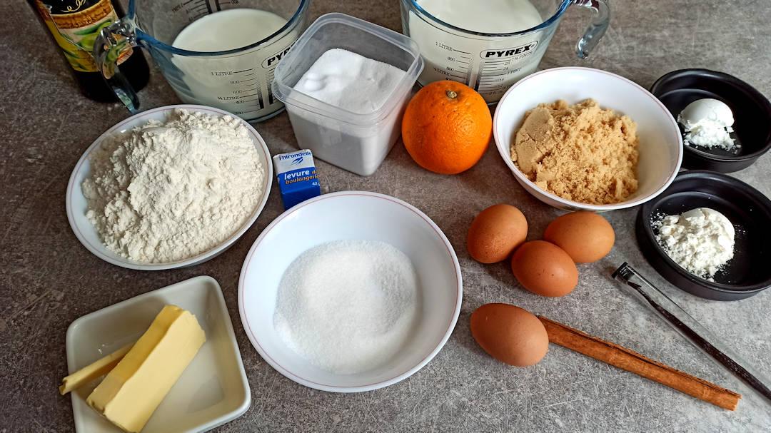 Les ingrédients de la fougasse catalane