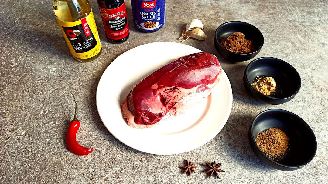 Les ingrédients du magret de canard à la chinoise