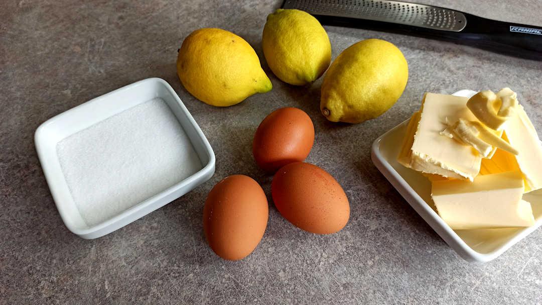 Les ingrédients du crémeux citron