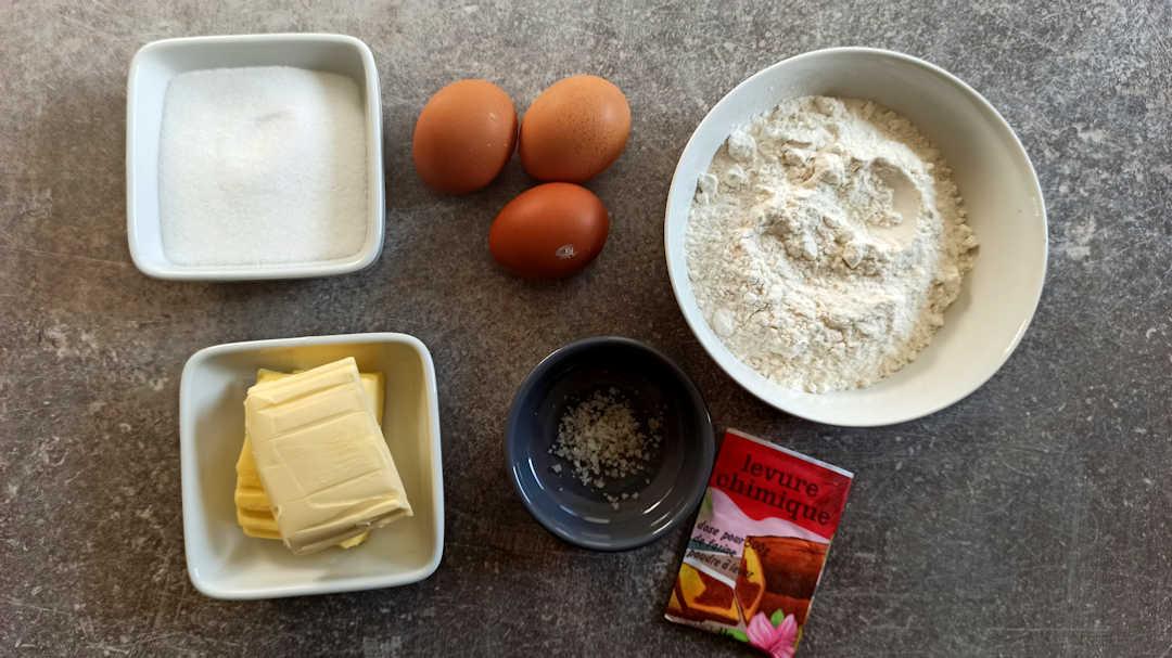 Les ingrédients du sablé breton