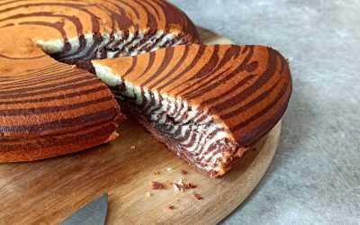 Zebra cake, gâteau zébré