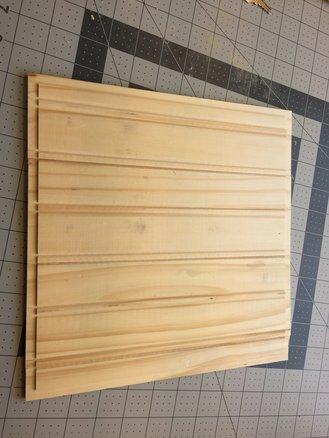 An assembled panel