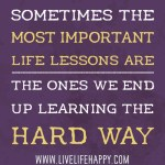 Life's Tough Lessons