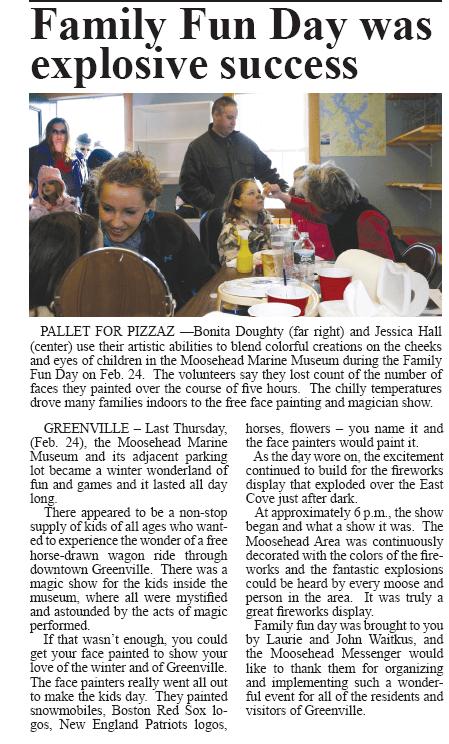 Article by Jon Hilton On Family Fun Day