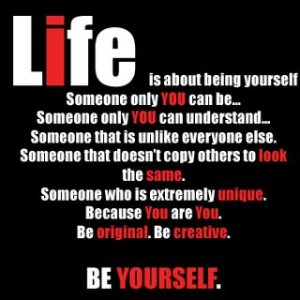 now be yourself