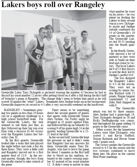 Greenville Boys Basketball vs Rangeley