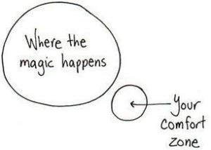 Getting out of our comfort zone sometimes makes no sense but it is the only area that growth resides!!