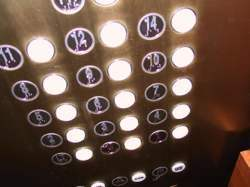 pushing elevator buttons