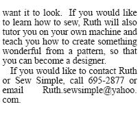 Article by Jon Hilton On Greenville Sew Simple