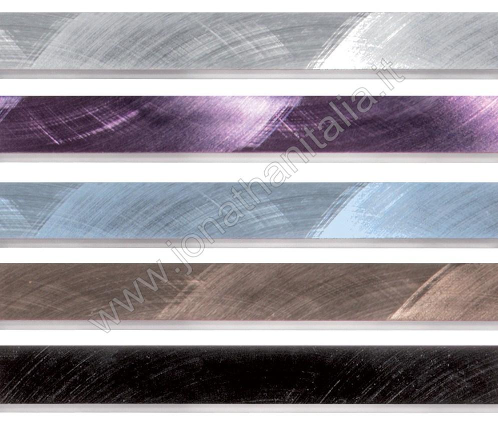 Profili in acciaio e alluminio  Listelli in alluminio spazzolato