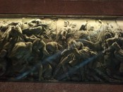 A closeup of one of the Siegessäule bronze reliefs.