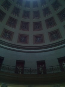 The rotunda upper wall and ceiling of the Altes (Old) Museum, the last one I visited in Museum Island.