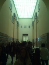 Pergamon Museum. Inside of the Ishtar Gate is the Processional Way, reconstructed here, again with its original materials.