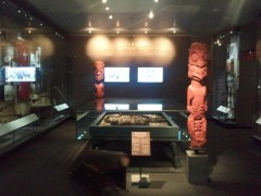 One of the Auckland Museum galleries devoted to the New Zealand Wars, between European settlers and the indigenous Maori people, fought 1845-1872.