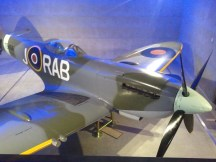 A WWII British Spitfire fighter at the Auckland Museum.