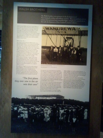 MOTAT: a poster on Leo and Vivian Walsh, who in 1911 became the first to fly an airplane in New Zealand.