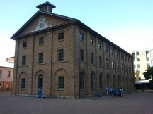 Exterior of the Hyde Park Barracks. Australia's first European use was by Britain, to house its convicts; this was one of their first stops when they reached the continent.