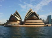 The Sydney Opera House, north view, from the ferry.