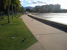 This picturesque walkway connects downtown Cairns and its marina.