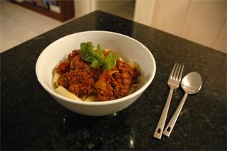 Macaroni with Bolognaise sauce