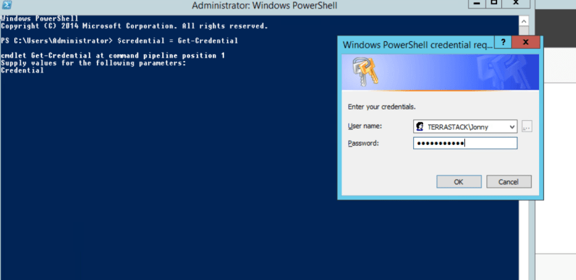 Powershell credentials