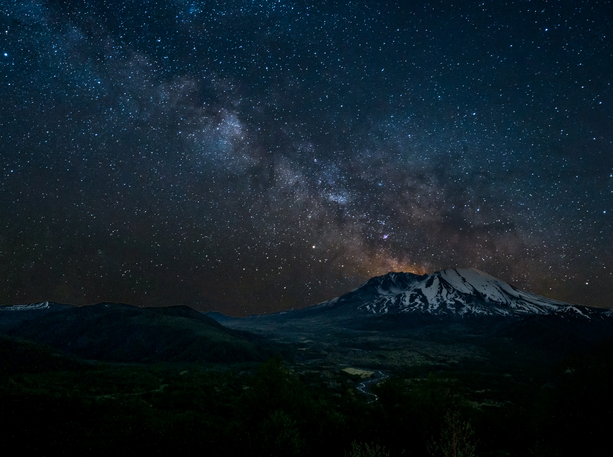 Starry Night at Mount Saint Helens
