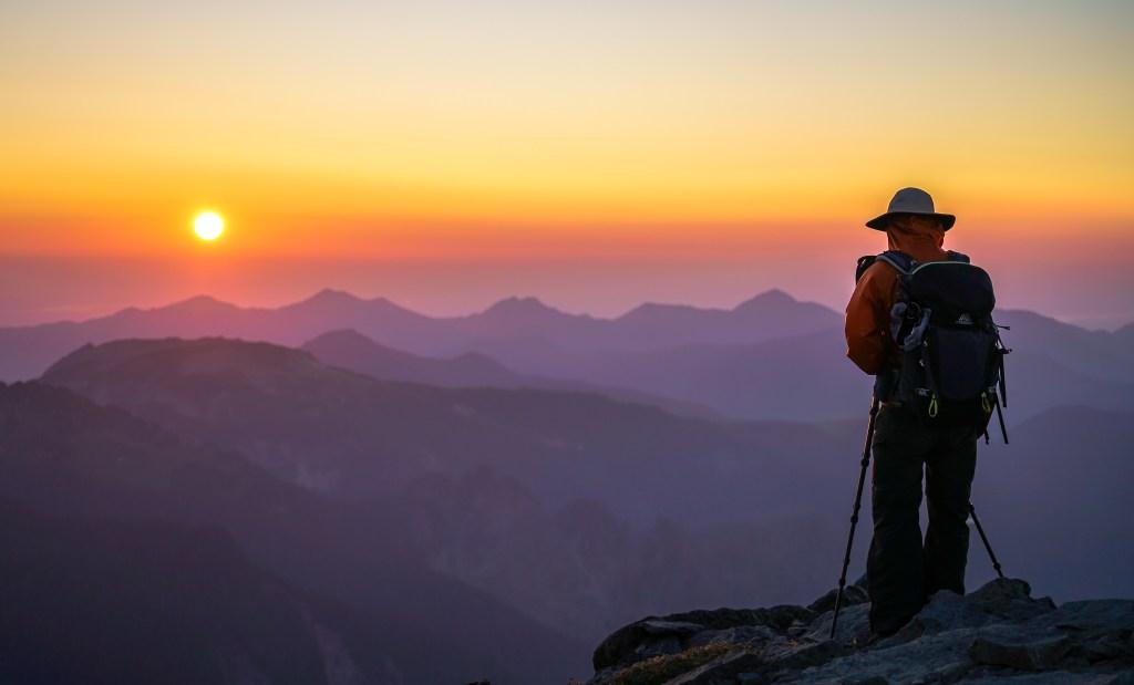 Fremont Lookout Tower Sunset, Mount Raininer National Park