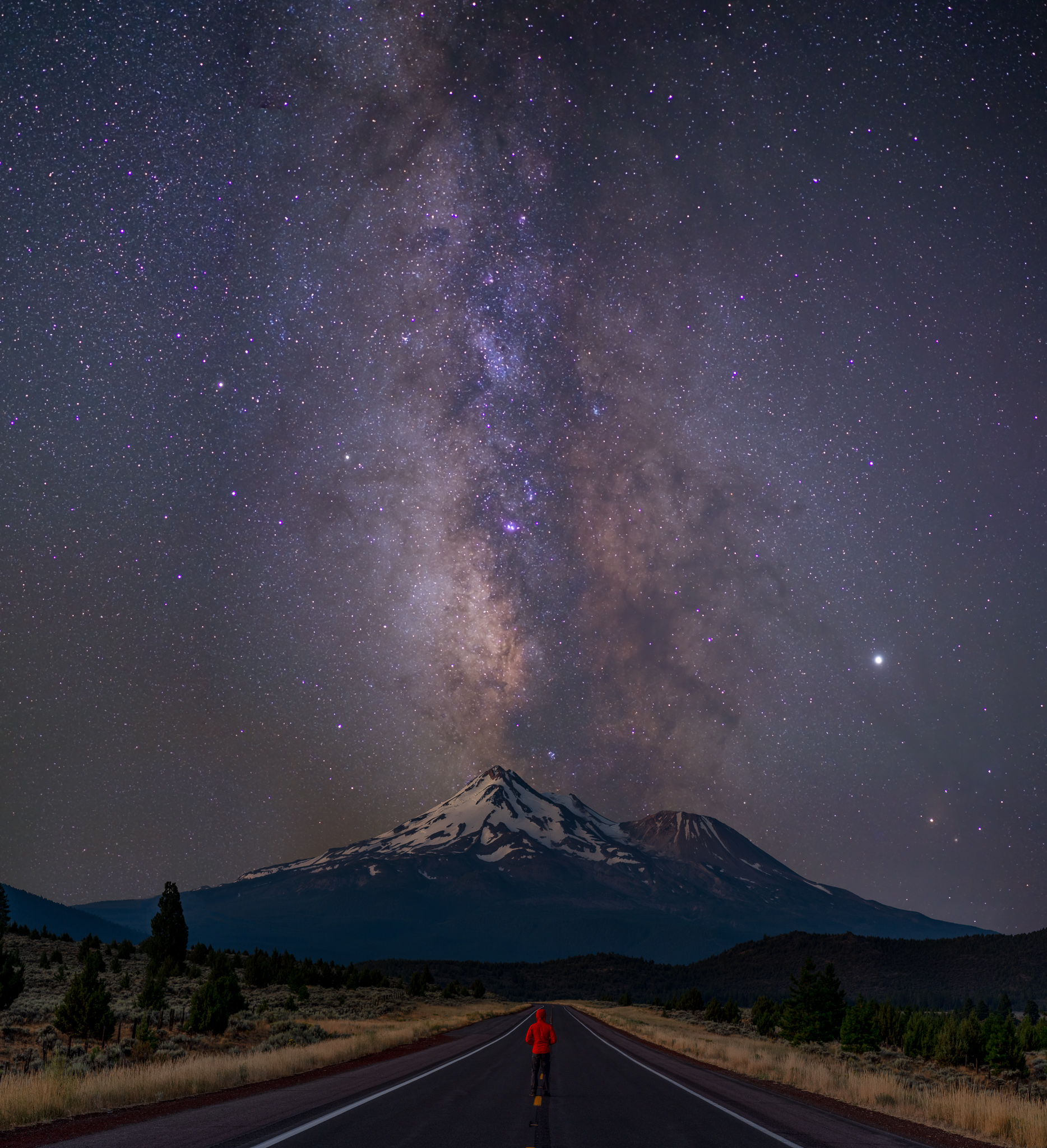 Mount Shasta Milky Way