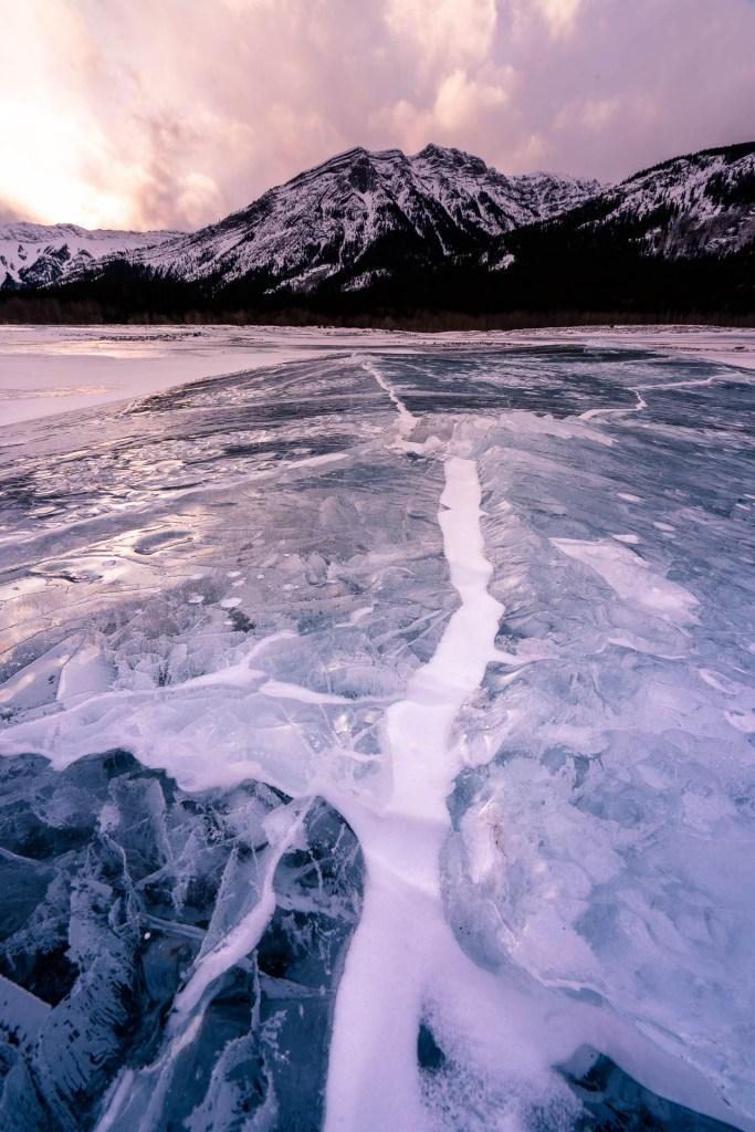 Ice Formation Abraham Lake