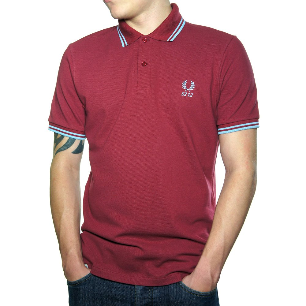 Buy Fred Perry 60 Year Twin Tipped Polo Shirt Maroon | Fred Perry Polo Shirt