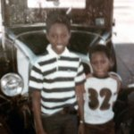 J Mac (left) and Jon in earlier times. Jon is the cute one with the perfect football sensibility.